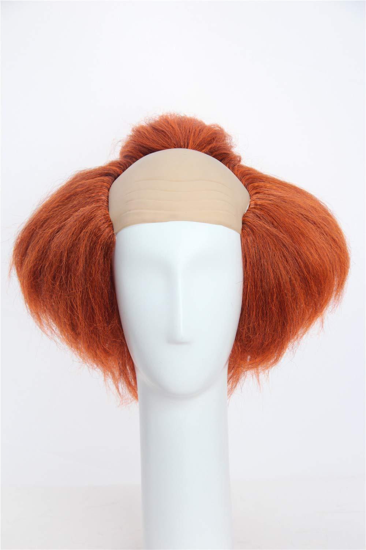 Weave Wigs –Halloween Deep Orange Clown Wig