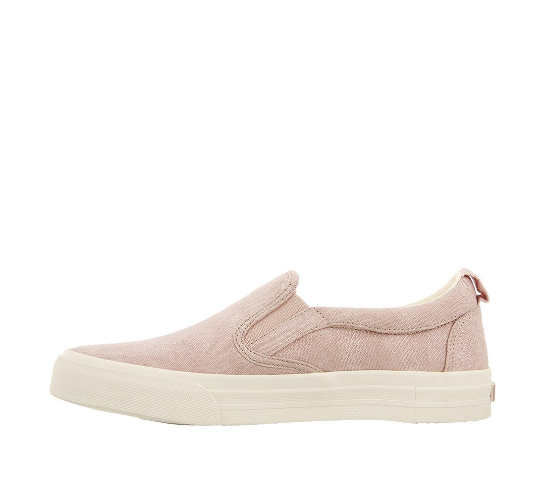 Taos Footwear Women's Rubber Soul Slip On B073MKGDQN 11 M US|Pink Wash Canvas