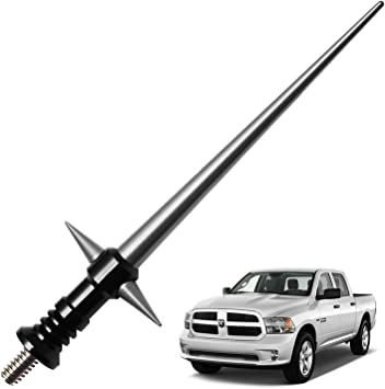 Black JL /& JLU 2007-Present 5.25 inches JKU JAPower Replacement Antenna Compatible with Jeep Wrangler JK