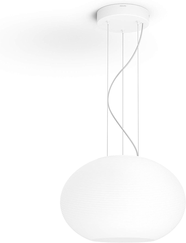 Philips Hue Flourish Lámpara Colgante blanca con LED Integrado, Iluminación inteligente, compatible con Amazon Alexa, Apple HomeKit y Google