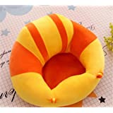 MOM'S GADGETS Premium Quality Soft Plush Chair/seat for Baby Safety Sitting/Soft Soft Plush Chair for Kids Birthday Large Size (Yellow & Orange)