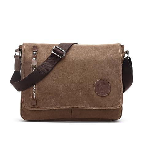 7fd5cda5040c78 Amazon.com: Urmiss(TM) Men Canvas iPad Bag Book Bag Daypack ...