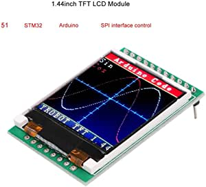MakerFocus TFT LCD Screen 1.44 inches TFT LCD Module 128x128 SPI Picture Graphic Color Screen 51 STM32 Arduino Routines to Replace 5110 OLED 5V for Arduino