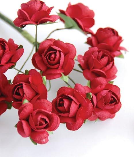 Buy Zva Creative Mini Rose Bulk Paper Flowers 5 12mm 144 Stems