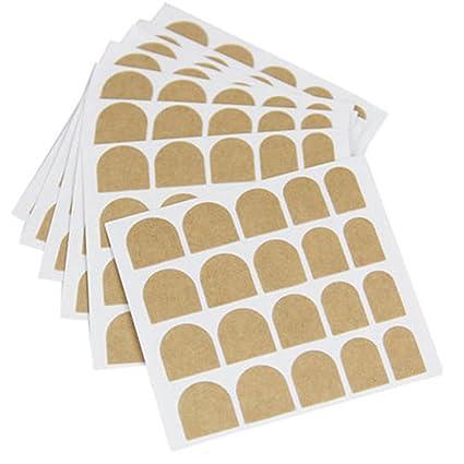 AsentechUK® 10 Hoja Nail Cinta Adhesiva de Doble Lado Adhesivo Adhesivo uñas postizas