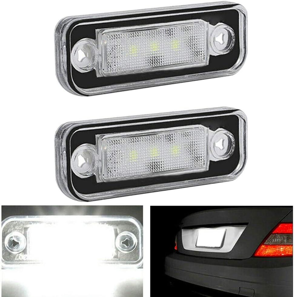 Noblik L/áMpara de Luz de Matr/íCula LED Sin Errores para Mercedes W203 5D W211 R171 W219