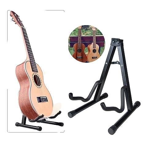 Soporte para guitarra feibrand plegable negro plegable con ...