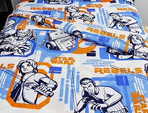 8pc Star Wars Twin Bedroom Set Rebels Fight Comforter Sheets and Window Panels with Tie-Backs by Disney (Image #3)
