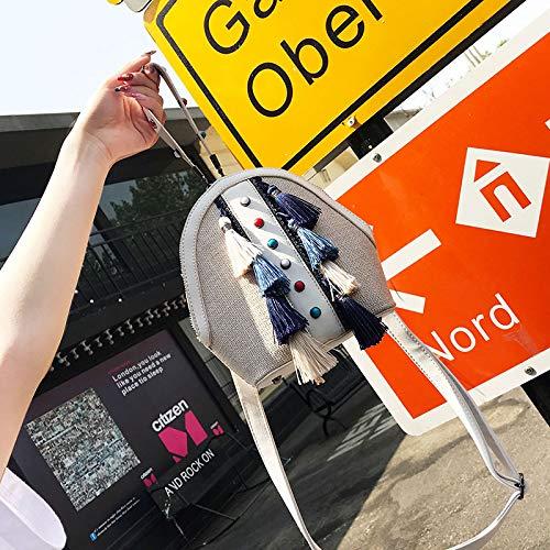 Coquille Mini bandoulière en Petit Sac Sac WSLMHH Sac Fille épaule marée Portable Sauvage Petit Blanc d'été qfwnzBPawx