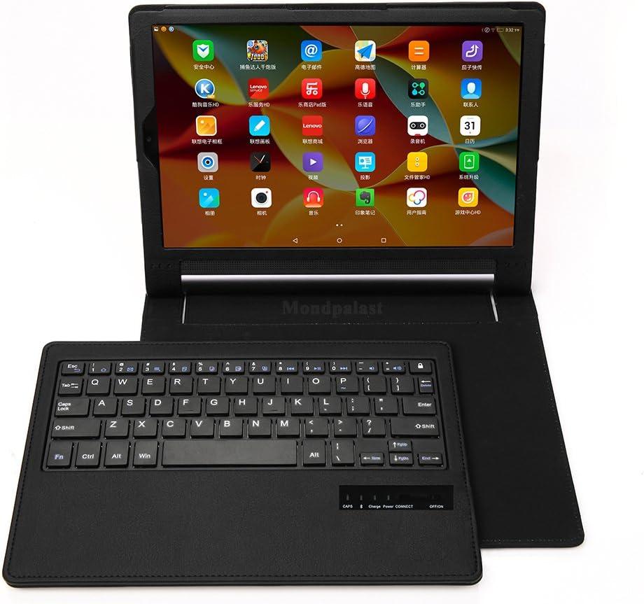 Mondpalast @ Funda Carcasa Caso con QWERTY teclado inalambrico Bluetooth desmontable para Lenovo Yoga Tab 3 Plus 10 LENOVO YOGA TAB 3 PLUS 10.1