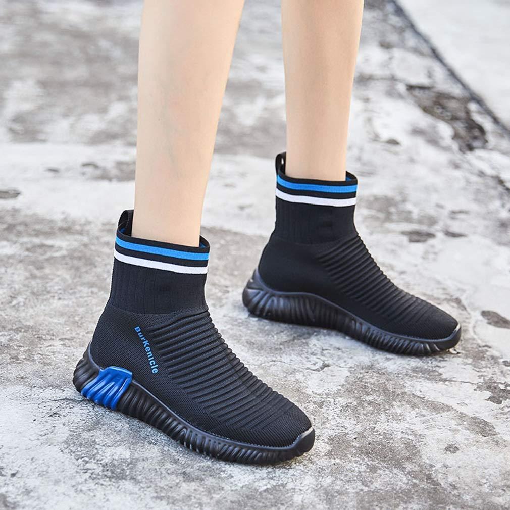 YAN Damenschuhe Stricken Frühling Herbst Stretch elastische Schuhe hohe Freizeitschuhe Komfort atmungsaktiv Komfort Freizeitschuhe Müßiggänger Fitness & Cross Training Schuhe e97073
