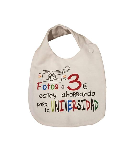 MISORPRESA BABERO ALGODON FRASE. FOTOS A 3€ ESTOY AHORRANDO ...