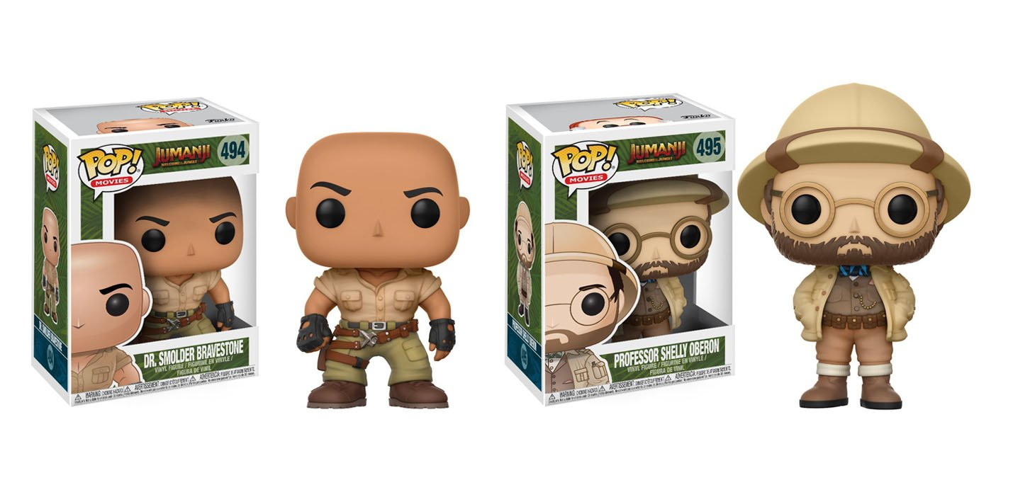 Funko POP Jumanji: Dr. Bravestone & Professor Oberon Figures (set of 2)