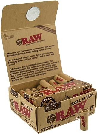Raw obra maestra – Rollos de papel de liar con conos de puntas, 1 pack: Amazon.es: Hogar