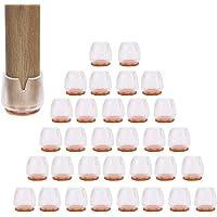 32 stuks siliconen stoelpootpads, stoelpootbescherming, stoelpootbescherming, stoelpootdoppen, sokken, tafels en stoelen…