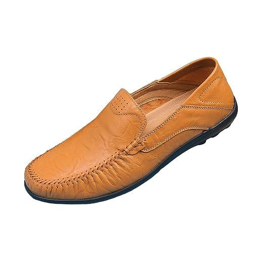 SK Stutio Hombre Mocasines de Cuero Negocio Casual Planos Loafers Slip On Moda Zapatos de Conducción Zapatillas: Amazon.es: Zapatos y complementos
