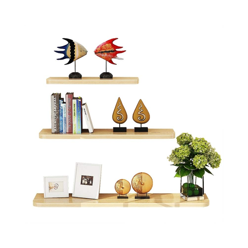 WUDENHOM Wall Mountable Shelves, Set of 3 Easy Install Fashion Display Wood Modren Floating Shelves for Home Office(White Maple Color,12,16,20inch)