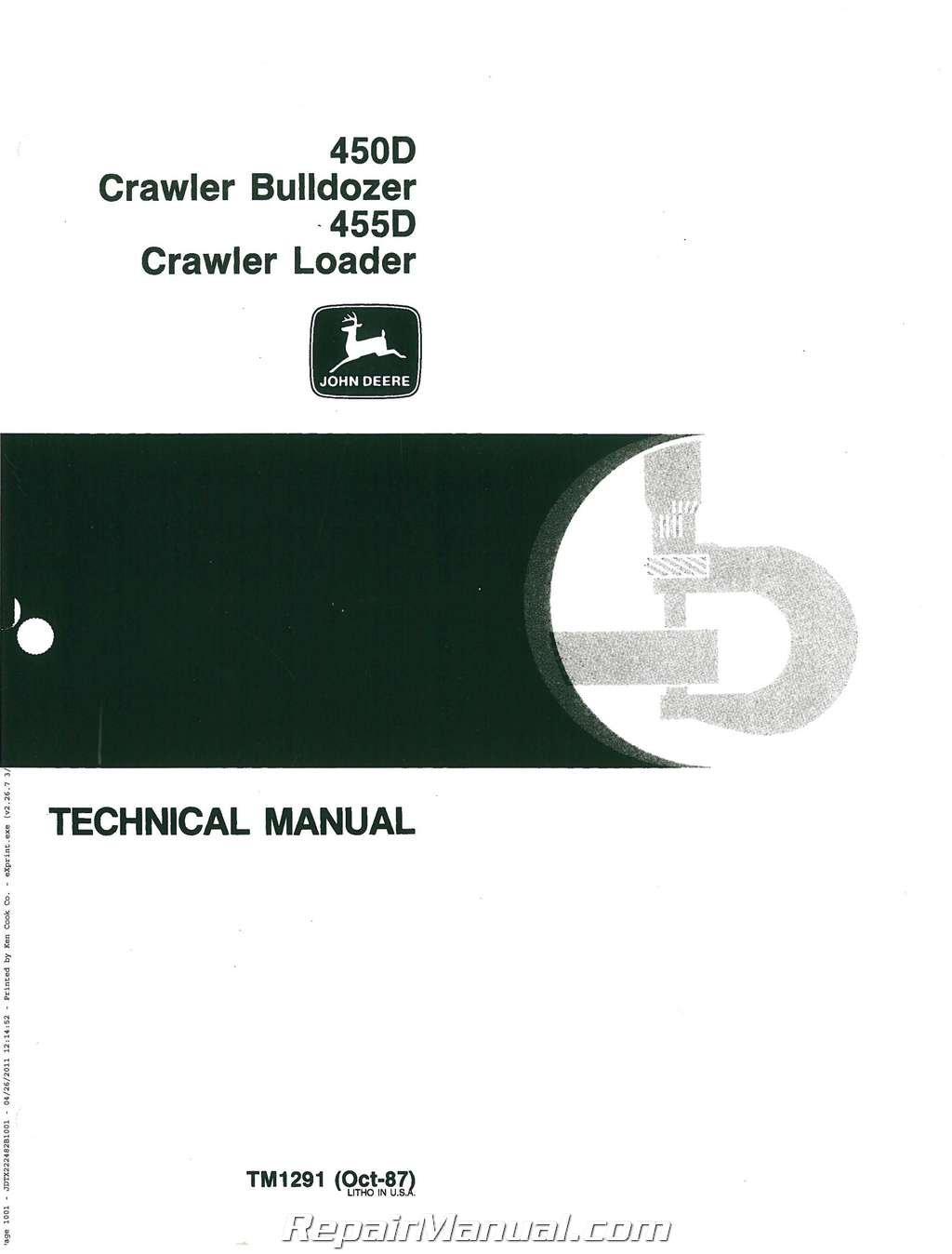 JD-S-TM1291 John Deere 450D 455D Service Manual ebook