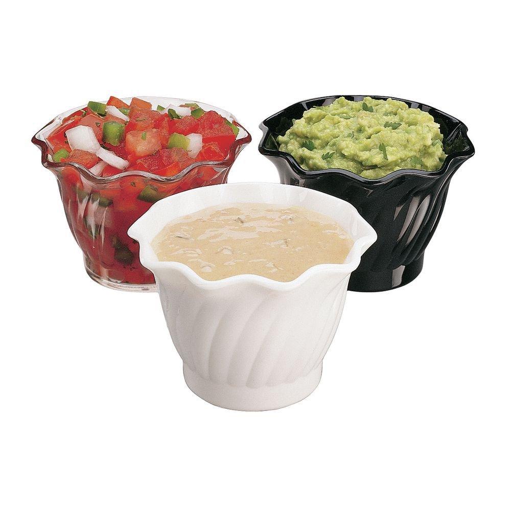Cambro 5 Oz Clear Polycarbonate Swirl Bowls - 3 1/2 Dia x 2 7/16 H by Cambro