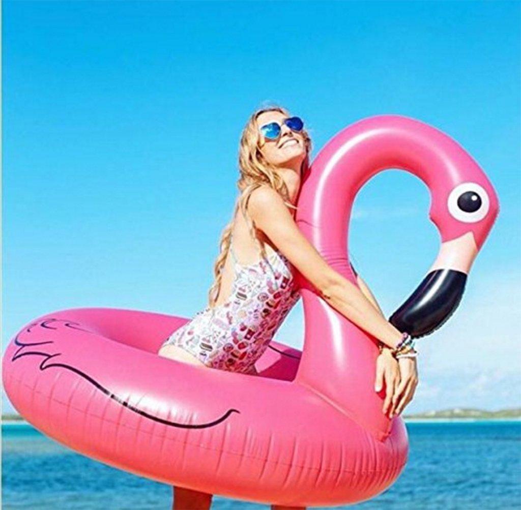 Anillo Inflable Gigante De La Natación De Los Flamencos Del Flotador Del Anillo De Natación Flotante Grande Del Salón De La Fiesta Del Agua Para Los Adultos Y Los Cabritos Con El Rosa (Flote Solamente) lvmiao