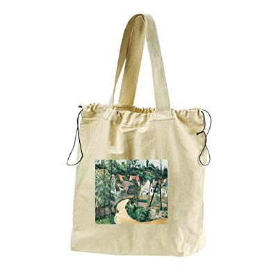 Turn In The Road (Cezanne) Canvas Drawstring Beach Tote Bag