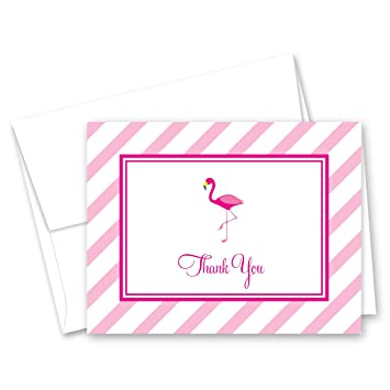 Amazoncom 50 Hot Pink Flamingo Thank You Cards Baby