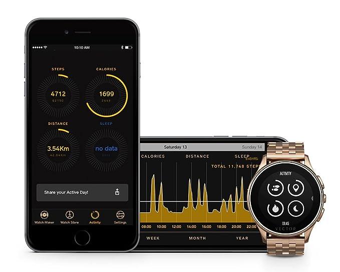 Vector L1-10-014 Luna - Smartwatch, color rosa dorado ...
