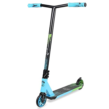 VOKUL Complete Pro Scooter for Kids Boys Girls Teens Adults Up 7 Years – Freestyle Tricks Pro Stunt Scooter with 110mm Metal Wheels – High Performance Gift for Skatepark Street Tricks