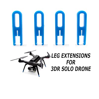 Landing Gear Leg Extensions Protector Heighten Increase Tripod for 3DR SOLO Smart Drone: Toys & Games