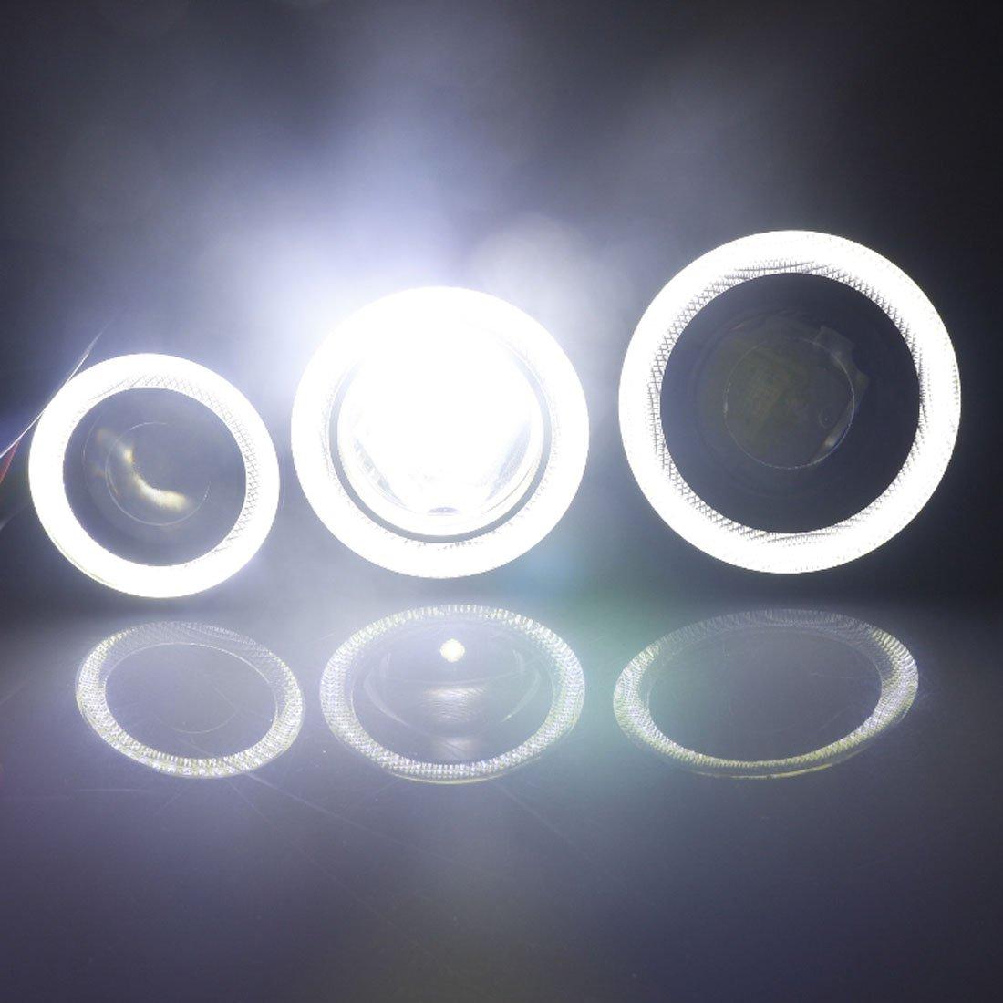 1 paire Lampe halo LED universelle angel eye avec lampe antibrouillard pour voiture 12/V CC Blanc polaire
