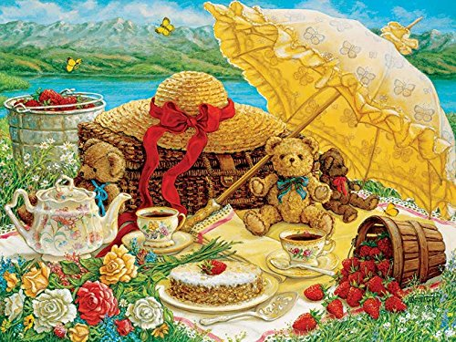 Outset Media Teddy Bear Picnic Jigsaw Puzzle (500 Piece), 24 x 18 (Supreme Teddy)