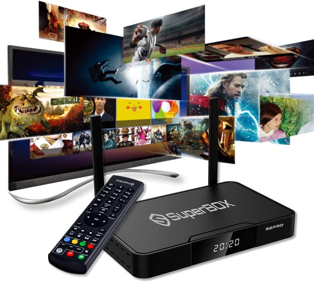 BETTER TV,BETTER LIFE!SuperBox S2 PRO Android 9.0 Quad Core 2GB DDR3 Memory 16GB eMMC Storage