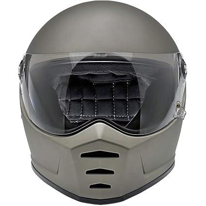894a9096 Amazon.com: Biltwell Lane Splitter Solid Full-face Motorcycle Helmet - Flat  Titanium/Large: Automotive