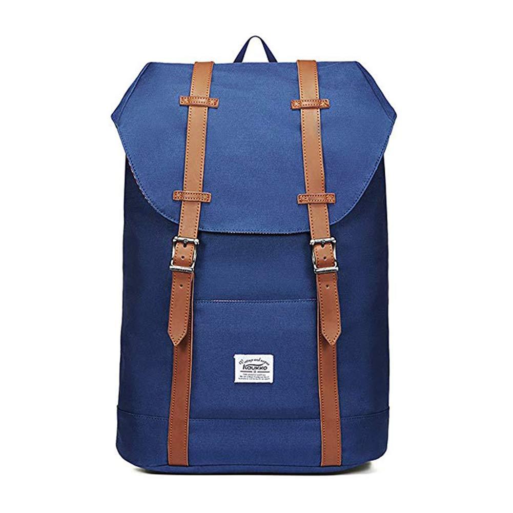 Lightweight Outdoor Backpack, KAUKKO Travel Casual Rucksack Laptop Daypack for 15'' (P61BLUE)