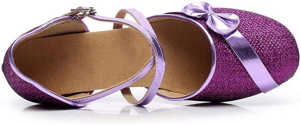 Harpily Ragazze Scarpe da Ballo Premio Anti Scivolo con Tacco Scarpe da Ballo Latino Ragazze Single Party Dancing della Principessa
