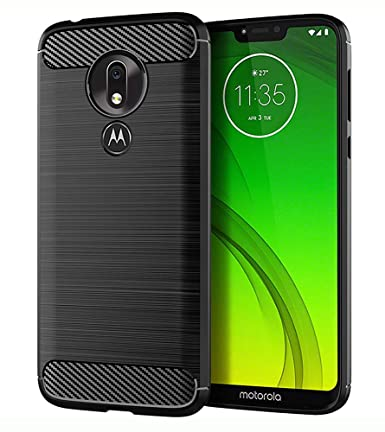 Moto G7 Power Case, Motorola G7 Power Case, Thinkart Frosted Shield Luxury Slim Design for Motorola Moto G7 Power (Black)