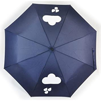 Dopobo cambia de Color de Rachael Taylor sol paraguas de nubes Fashion con texto anti-