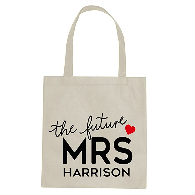 The Future Mrs Personalised Canvas Tote Shopping Bag Cotton Printed Shopper Gift