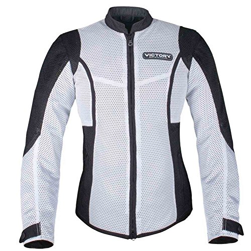 Victory Motorcycle New OEM Women's White Mesh Riding Jacket, Large, 286522106 -