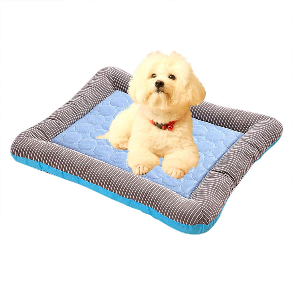 Pink, Medium Cooling Pet Bed Dog Cat Bed Aimik Summer Pet Nest Dog Cat Cold Sense Nest Kennel New Sofa Sleep Cushion Car Nest for Kennel Sofa Bed Floor Indoor Outdoor,Beds Ideal for Dog Crates