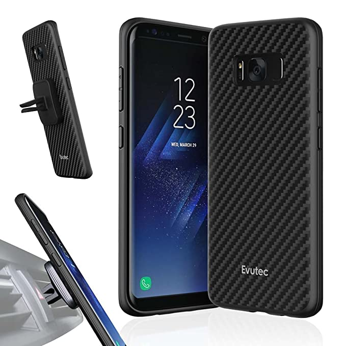 best cheap 00150 209ea Evutec AER Karbon Series Case with Vent Mount for Samsung Galaxy S8 - Black