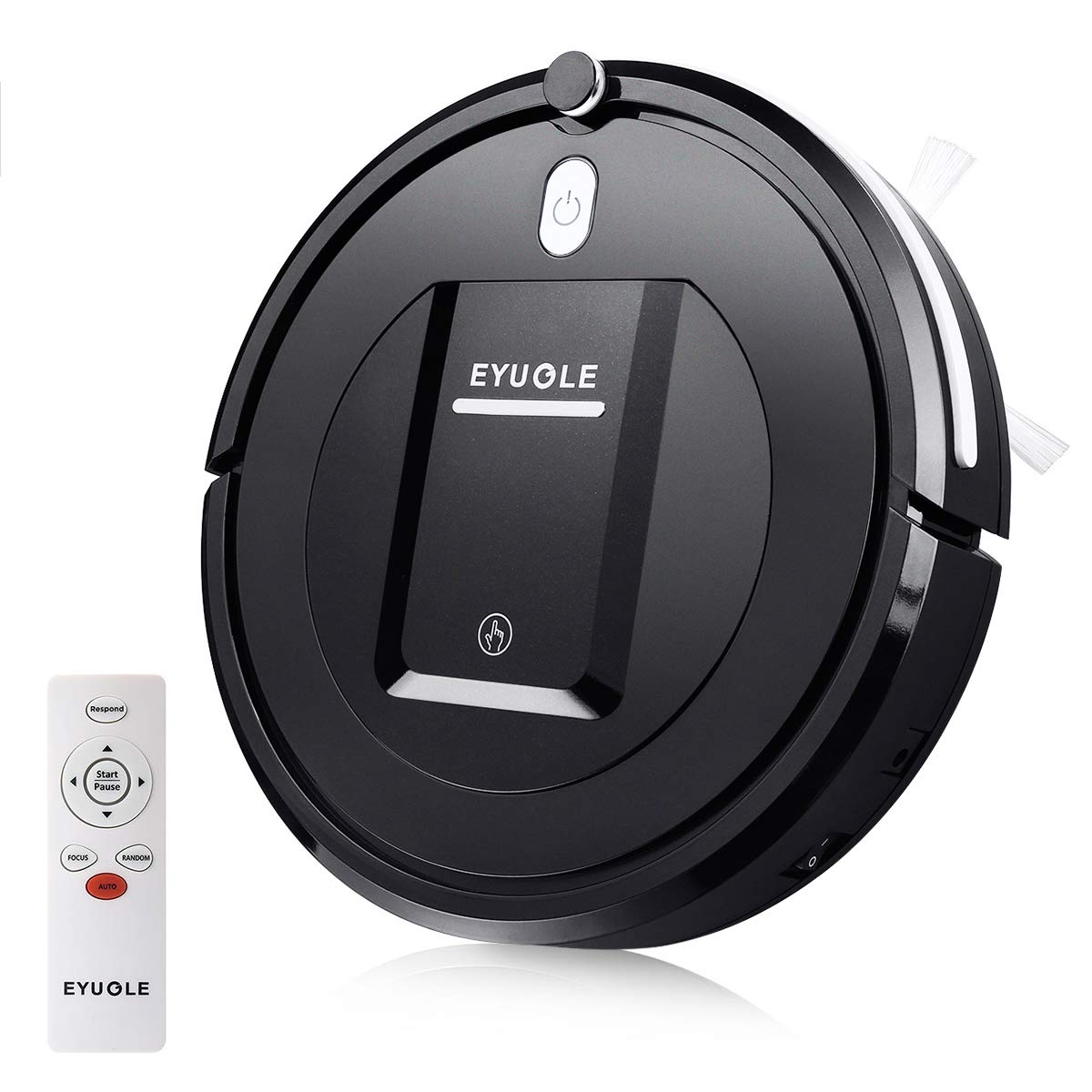 EYUGLE Robot Vacuum Cleaner with Slim Design, Anti-Drop Sensing Tech, Higher Suction Robotic Home Cleaning for Hard Floor, Pet Hair