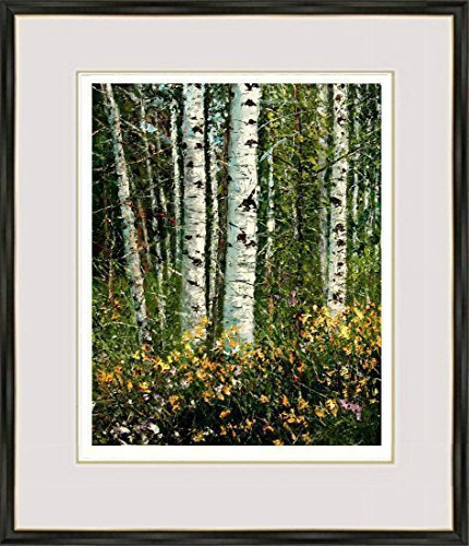 """Aspens and Wildflowers"" – Limited Edition 13/100, Signed and Numbered Print by ANDRE DLUHOS"