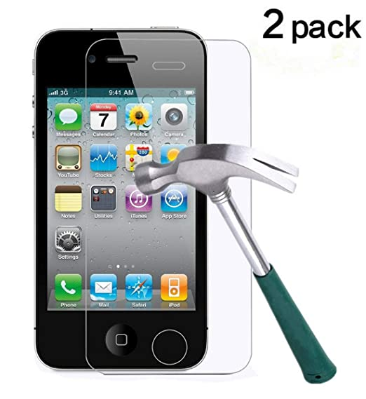Image Unavailable. Image not available for. Color  TANTEK Tempered Glass  Screen Protector for Apple iPhone 4 4S ... fd721fa420