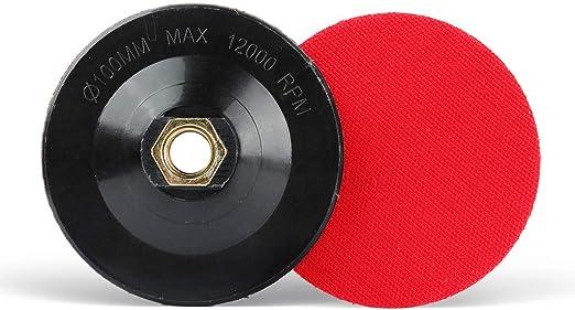 5 inch 125mm grinder backing pad polishing holder hook loop backed 5//8 thread