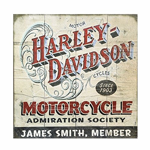 Meissenburg Designs Personalized Harley-Davidson(r) Motorcycle Admiration Society Custom Wooden Wall Art For Sale