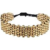 81stgeneration Bracelet couleur or laiton Motif réglable facettes petite perle