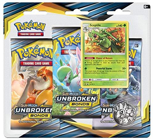 Pokemon TCG: Sun & Moon Unbroken Bonds 3pk Blister Sceptile
