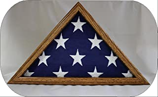 product image for All American Gifts Small 3x5 Flag Display Case - Solid Oak Wood - NOT for Large Burial Size Flag