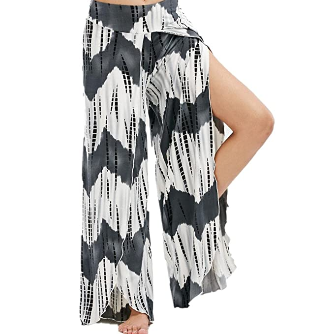 Amazon.com: Mujeres Cintura Alta Wide Leg Palazzo – High ...